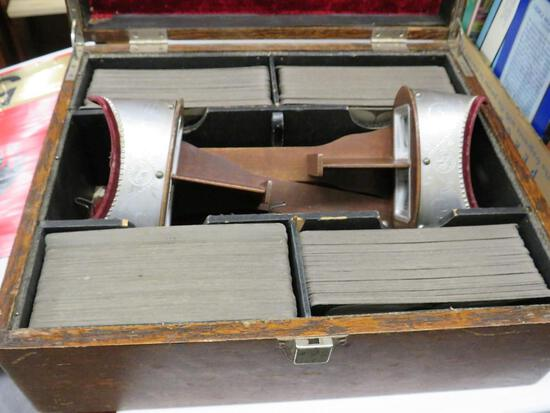 Stereoscope Case with 2 Stereoscopes and 100 Plus Cards