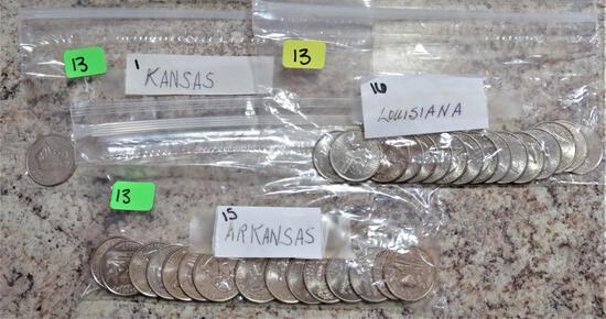 Arkansas, Kansas, Louisiana Quarters