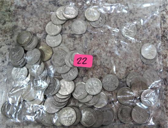 77 Roosevelt Silver Dimes