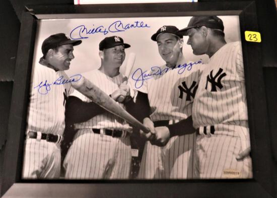 Mantle/Berra/Dimaggio Signed Photo