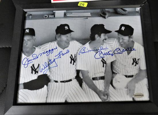 Dimaggio/ Fors/ Martin/ Mantle Signed Photo