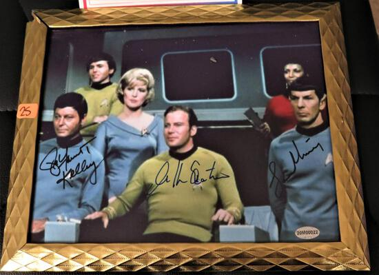 Trek Cast Signed Photo