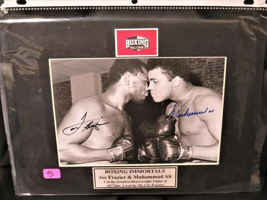 Frazier Ali Signed Photo