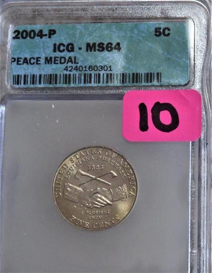 2004-P Jefferson Peace Medal Nickel