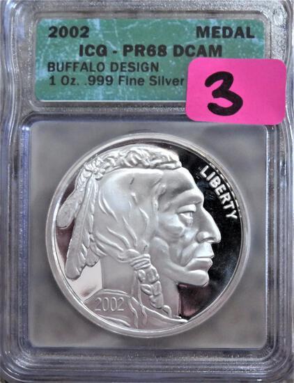 2002 Buffalo 1oz Fine Silver
