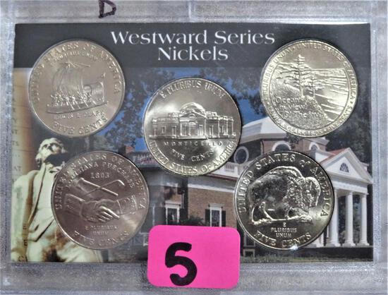 Westward  Series Nickels all D