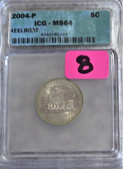 2004-P Jefferson Keelboat Nickel