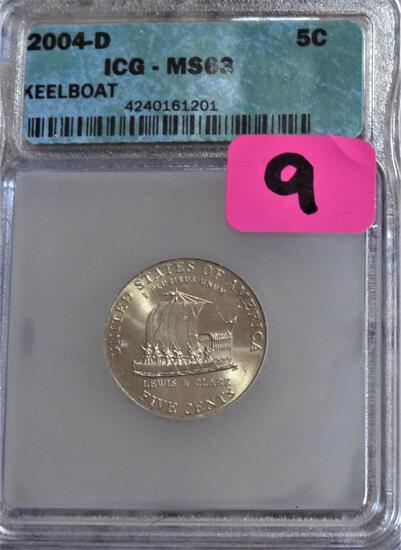 2004-D Jefferson Keelboat Nickel