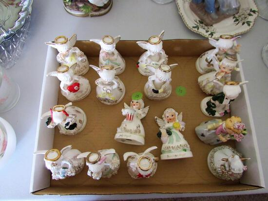 Set of Napco Ceramic Monthly Angels (whole year)