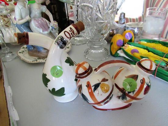 2 Sets of Vinegar and Oil Jars