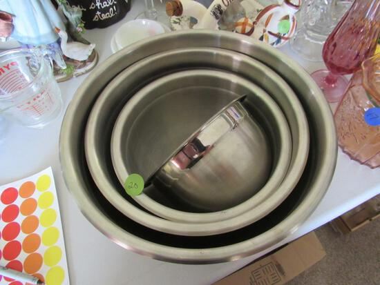 Set 4 Heavy Stainless Steel Mixing Bowls