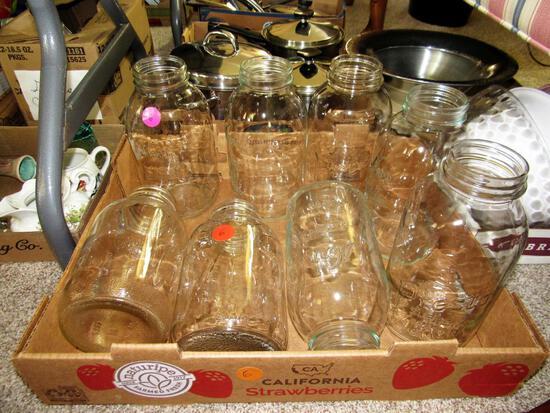 Box of 8 Presto and Kerr Jars