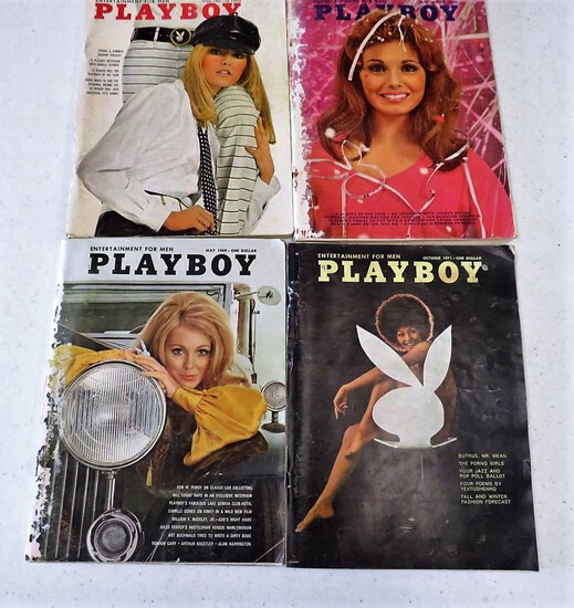 4 PLAYBOYS MAY 1967,68,69 OCT 71