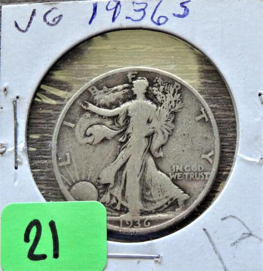 1936-S Walking Liberty Half