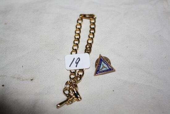 Gold Fill Bracelet and Dental Enamel Pin