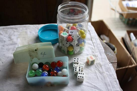 Vintage Dice and Marbles