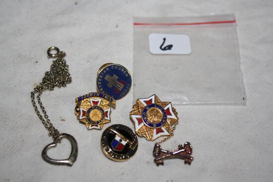 (5) Vintage Pins