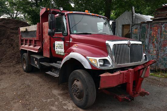2006 International model 7300 single axle dump truck