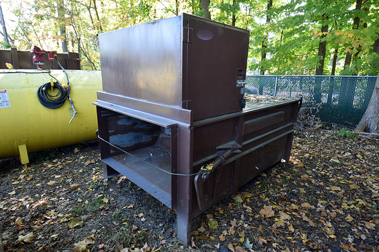 Wastequip 2 Yd. Stationary Compactor w/Hopper Enclosure