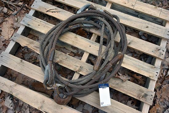 "1"" X 10' Braided Slings w/ Hooks"