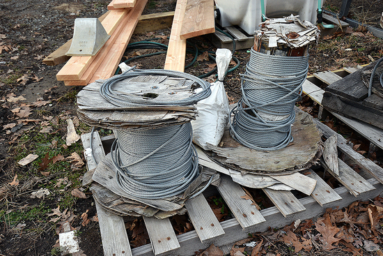 """(2) Partial Spools of 1/4"""" Braided Cable"""