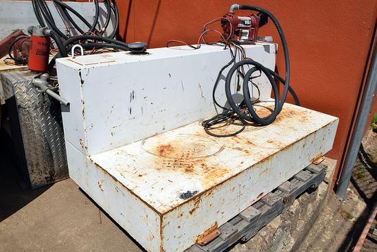 Steel Fuel Tank w/Fill-Rite 12v Pump
