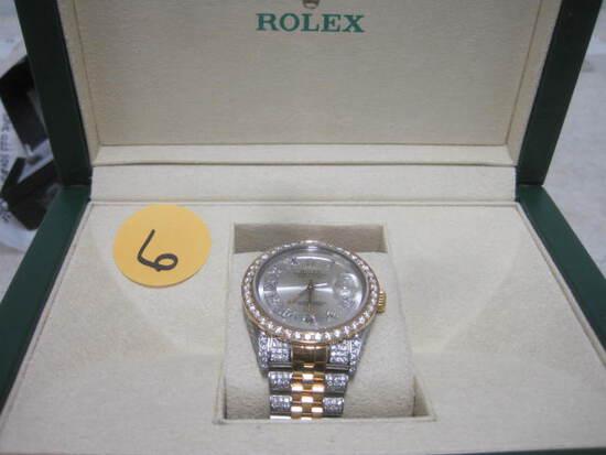 18k Yellow Gold Rolex Watch