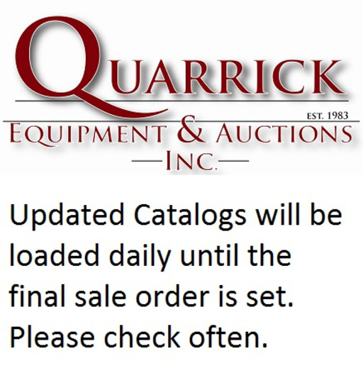 Updated Catalogs will be loaded daily until the final sale order is set. Please check often.