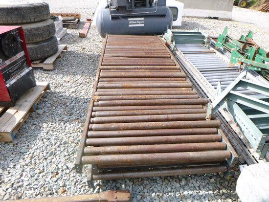 Gravity Roller Conveyor 3sections steel 40inX10ft (QEA 2143)