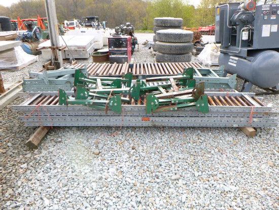 Gravity Roller Conveyor 4sections steel 18inX10ft (QEA 2144)