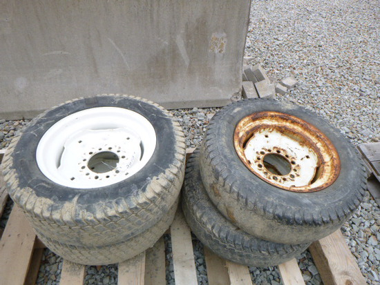 (4) Truck Tire w/Rim 27x8.50-15 (QEA 3973)