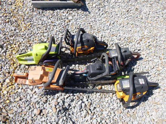 6 Chain Saws (QEA 2365) (QEA 2365)