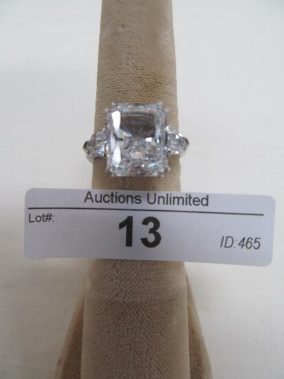 13 STERLING SILVER CZ RING