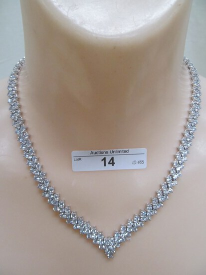 14 STERLING SILVER CZ NECKLACE