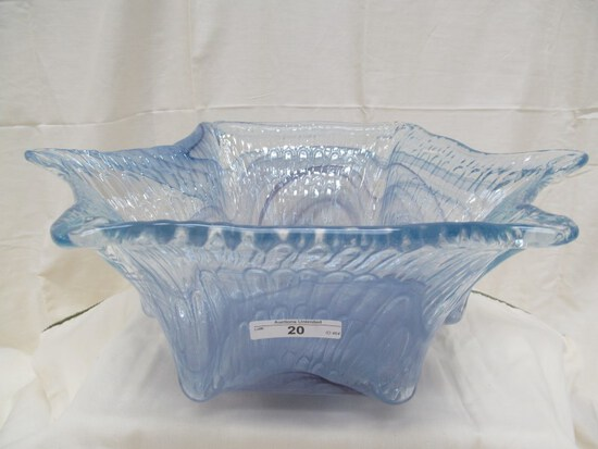 "LARGE ART GLASS BOWL 5.5"" x 14"""