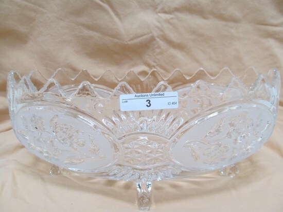 "CUT CRYSTAL CANDY DISH 11"" x 4"" x 5"""