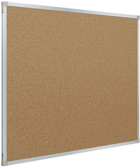 Mead Corkboard, Framed Bulletin Board, 3' x 2', Cork Board, Aluminum Frame (Frame has small bend)