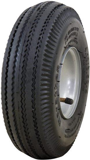 "Marathon 4.10/3.50-4"" Pneumatic (Air Filled) Hand Truck / All Purpose Utility Tire on Wheel, 2.25"" O"
