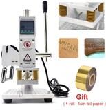Upgraded Hot Foil Stamping Machine 5x7cm 110V Digital Embossing Machine Manual Tipper Stamper for PV