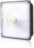 Parmida LED Canopy Light 45W 0-10V Dimmable 5200lm 110-277VAC IP65 Waterproof DLC-Qualified & ETL-Li