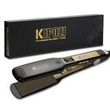 KIPOZI Professional Titanium Flat Iron Hair Straightener with Digital LCD Display Dual Voltage Insta