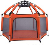 Baby Playpen/Playpen Play Yard Space Canopy Fence Kids Safety Playpen Foldable/Compact Kids Play Pen