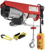 Partsam 2200 lbs. Lift Electric Hoist Crane Remote Control Power System Zinc-Plated Steel Wire Overh