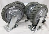 4 HEAVY DUTY CASTORS (TWO LOCKING AND TWO NON LOCKING)