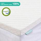 RECCI 2-Inch Memory Foam Mattress Topper Full Pressure-Relieving Bed Topper Memory Foam Mattress Pad