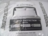 AllerEase 100% Cotton Allergy Protection Medium Density Body Pillow - Breathable Hypoallergenic Fibe