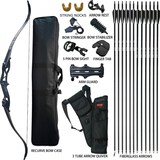 D&Q Hunting Recurve Bow and Arrow Set for Adults Kit Archery Hunting Shooting Target Practice Compet