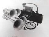 Vixen Horns Train Horn for Truck/Car. 4 Air Horn Chrome Plated Trumpets. Super Loud dB. Fits 12v Veh