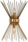 EDISLIVE 2-Light Vanity Light Mid-Century Modern Starburst Wall Sconce Lamp Sunburst Sconce Gold Lam