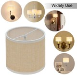 Wellmet Chandelier Lamp Shades ONLY for Candle Bulbs Clip-on Drum Mini Lamp Shades 5.5
